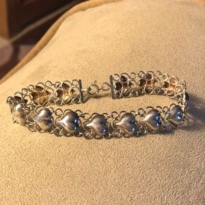 Jewelry - Hearts and lace silver bracelet